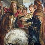 Kings Clothar and Dagobert dispute with a Herald, Peter Paul Rubens