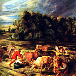Landscape with Cows, Peter Paul Rubens