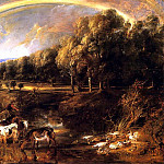 Landscape with a Rainbow - ок 1638, Peter Paul Rubens