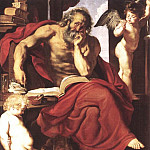 St Jerome in His Hermitage - 1608 - 1609, Peter Paul Rubens