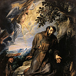 St Francis of Assisi Receiving the Stigmata - 1635, Peter Paul Rubens