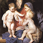Peter Paul Rubens - The Holy Family with Sts Elizabeth and John the Baptist - 1614