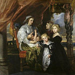 Deborah Kip, Wife of Sir Balthasar Gerbier, and Her Children – 1629 – 1630, Peter Paul Rubens