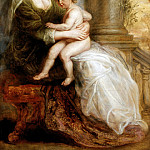Peter Paul Rubens - Helena Fourment with her Son Francis - 1635