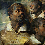 Four Studies of the Head of a Negro, Peter Paul Rubens