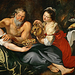 Peter Paul Rubens -- Lot and His Daughters, Peter Paul Rubens