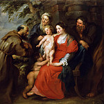 The Holy Family with Saint Francis, Peter Paul Rubens