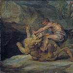 Samson and the Lion. Study, Peter Paul Rubens