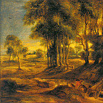 Landscape with the Carriage at the Sunset - 1635, Peter Paul Rubens