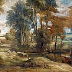 A Wagon fording a Stream, Peter Paul Rubens
