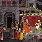 First generation after Manaku and Nainsukh – The Wedding of Krishna's Parents: Folio from a Bhagavata Purana Series, Metropolitan Museum: part 2