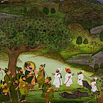 Metropolitan Museum: part 2 - Chokha - Maharana Bhim Singh Reviewing the Kill after a Boar Hunt