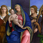 Metropolitan Museum: part 2 - Giovanni Bellini and Workshop - Madonna and Child with Saints