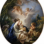 François Boucher – Virgin and Child with the Young Saint John the Baptist and Angels, Metropolitan Museum: part 2