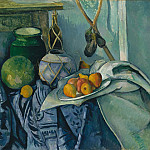 Still Life with a Ginger Jar and Eggplants, Paul Cezanne