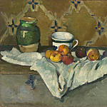 Still Life with Jar, Cup, and Apples, Paul Cezanne