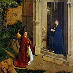 Attributed to Petrus Christus – The Annunciation, Metropolitan Museum: part 2