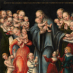 Lucas Cranach the Younger and Workshop – Christ Blessing the Children, Metropolitan Museum: part 2
