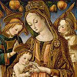 Vittore Crivelli – Madonna and Child with Two Angels, Metropolitan Museum: part 2