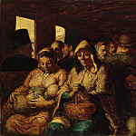 Honoré Daumier – The Third-Class Carriage, Metropolitan Museum: part 2