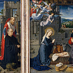 Gerard David – The Nativity with Donors and Saints Jerome and Leonard, Metropolitan Museum: part 2