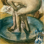 Woman Bathing in a Shallow Tub, Edgar Degas