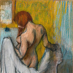 Edgar Degas – Woman with a Towel, Metropolitan Museum: part 2