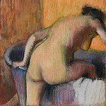Edgar Degas – Bather Stepping into a Tub, Metropolitan Museum: part 2