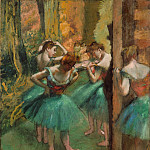 Metropolitan Museum: part 2 - Edgar Degas - Dancers, Pink and Green