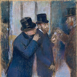 Edgar Degas – Portraits at the Stock Exchange, Metropolitan Museum: part 2