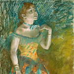 The Singer in Green, Edgar Degas