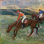 Three Jockeys, Edgar Degas