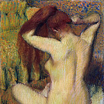 Metropolitan Museum: part 2 - Edgar Degas - Woman Combing Her Hair