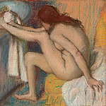 Edgar Degas – Woman Drying Her Foot, Metropolitan Museum: part 2
