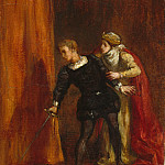 Hamlet and His Mother, Ferdinand Victor Eugène Delacroix