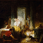 Jean Honoré Fragonard – The Happy Mother, Metropolitan Museum: part 2