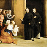 Garofalo – Saint Nicholas of Tolentino Reviving a Child, Metropolitan Museum: part 2