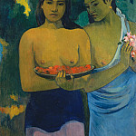 Two Tahitian Women, Paul Gauguin
