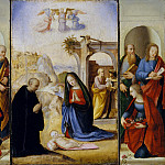Ridolfo Ghirlandaio – The Nativity with Saints, Metropolitan Museum: part 2