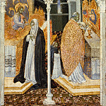 Giovanni di Paolo – The Miraculous Communion of Saint Catherine of Siena, Metropolitan Museum: part 2