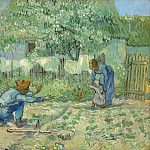Vincent van Gogh – First Steps, after Millet, Metropolitan Museum: part 2