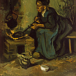 Metropolitan Museum: part 2 - Vincent van Gogh - Peasant Woman Cooking by a Fireplace