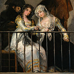 Metropolitan Museum: part 2 - Attributed to Goya (Spanish, Fuendetodos 1746–1828 Bordeaux) - Majas on a Balcony