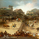Metropolitan Museum: part 2 - Attributed to Goya (Spanish, Fuendetodos 1746–1828 Bordeaux) - Bullfight in a Divided Ring