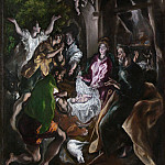 Metropolitan Museum: part 2 - El Greco (Greek, Candia [Iráklion] 1540/41–1614 Toledo) - The Adoration of the Shepherds