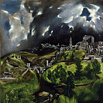 El Greco – View of Toledo, Metropolitan Museum: part 2