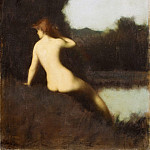 Metropolitan Museum: part 2 - Jean-Jacques Henner - A Bather (Echo)