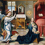 Joos van Cleve – The Annunciation, Metropolitan Museum: part 2