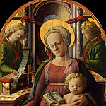 Fra Filippo Lippi – Madonna and Child Enthroned with Two Angels, Metropolitan Museum: part 2