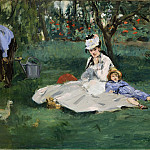Édouard Manet – The Monet Family in Their Garden at Argenteuil, Metropolitan Museum: part 2
